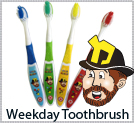 Uncle Moishy Weekday Toothbrush 4-pack