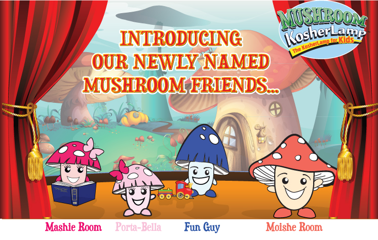 Introducing our newly named Mushroom Friends