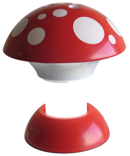 Lower the Mushroom Cap to hide the light